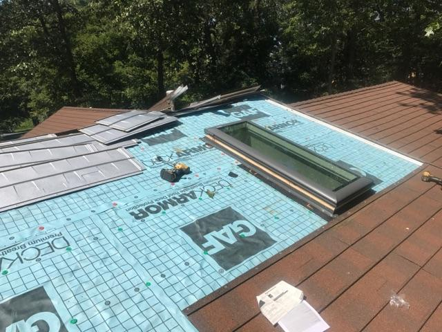 Progress Photo of Skylight Replacement in Browns Mill, PA
