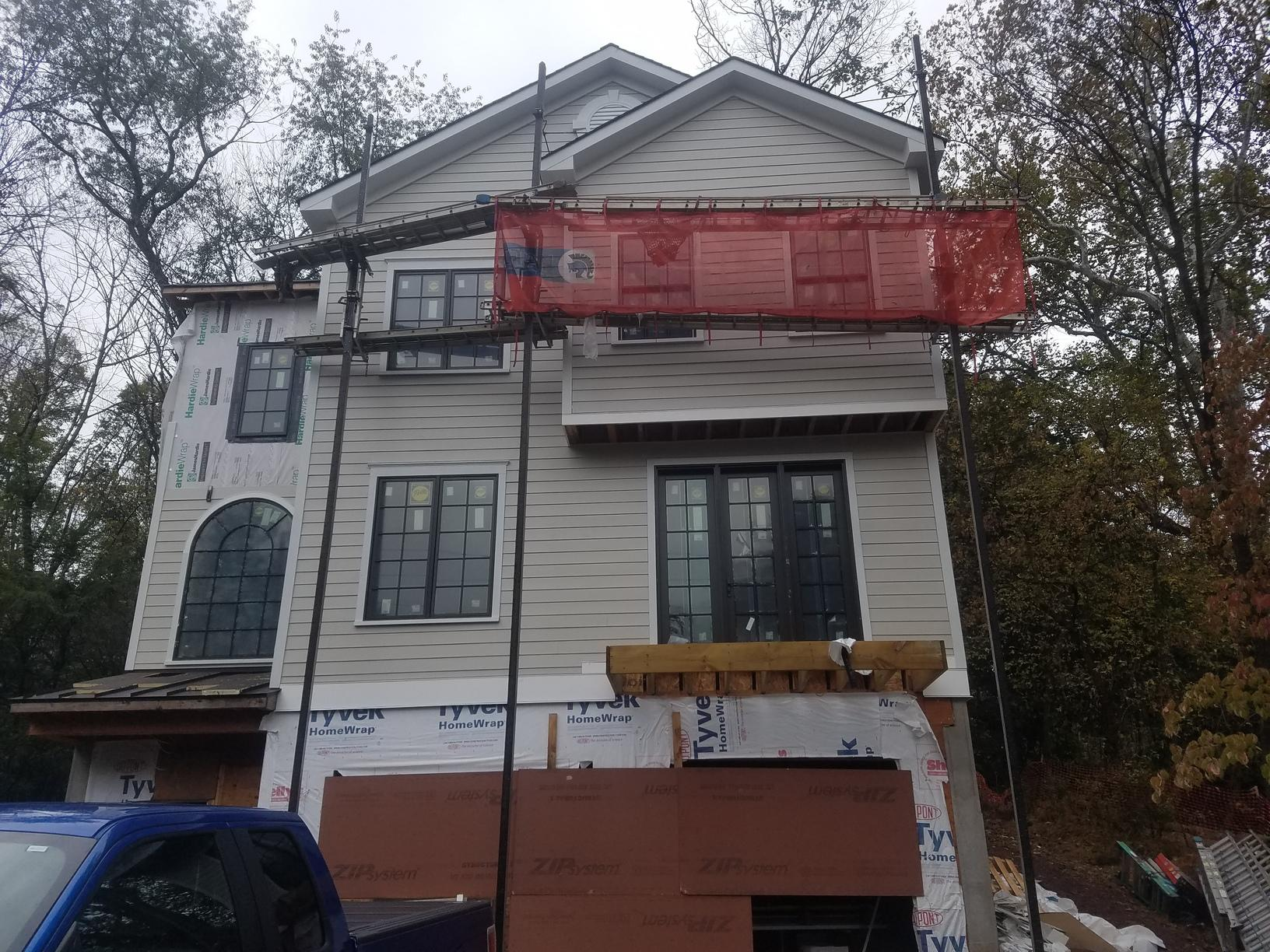 Progress Photo of Hardie Plank Install in New Hope, PA