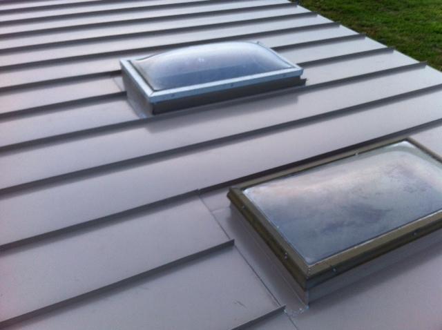 Buckskin G-Tech Standing Seam Metal Roof and Custom Skylight Flashing Installation in Allentown, NJ