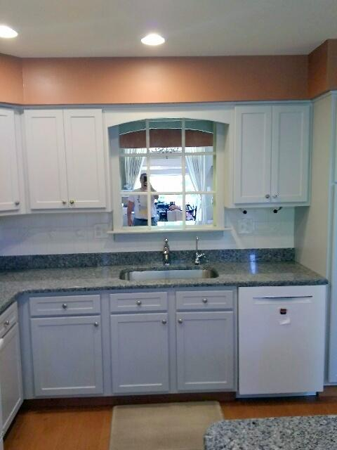 Earth Smart Remodeling Inc Cabinet Refacing Grey And White Kitchen