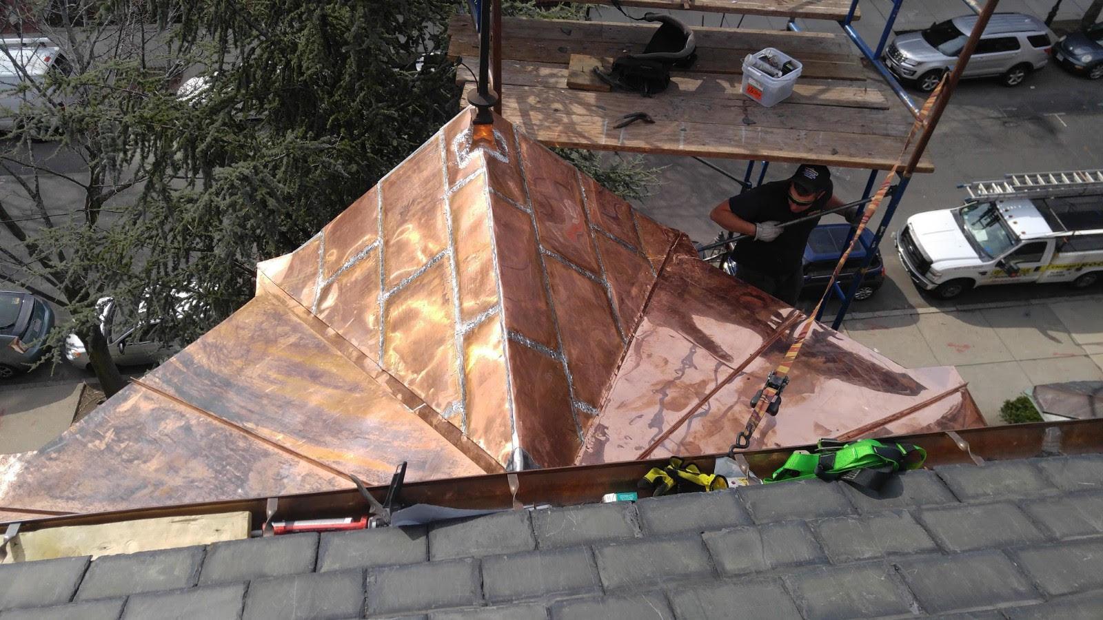 Overhead View of Copper Dormer