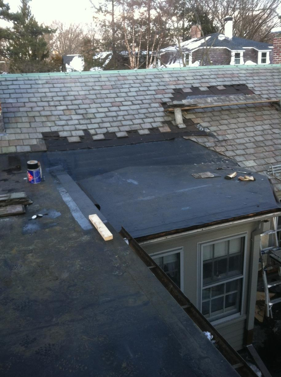 Newly Installed Rubber Roof