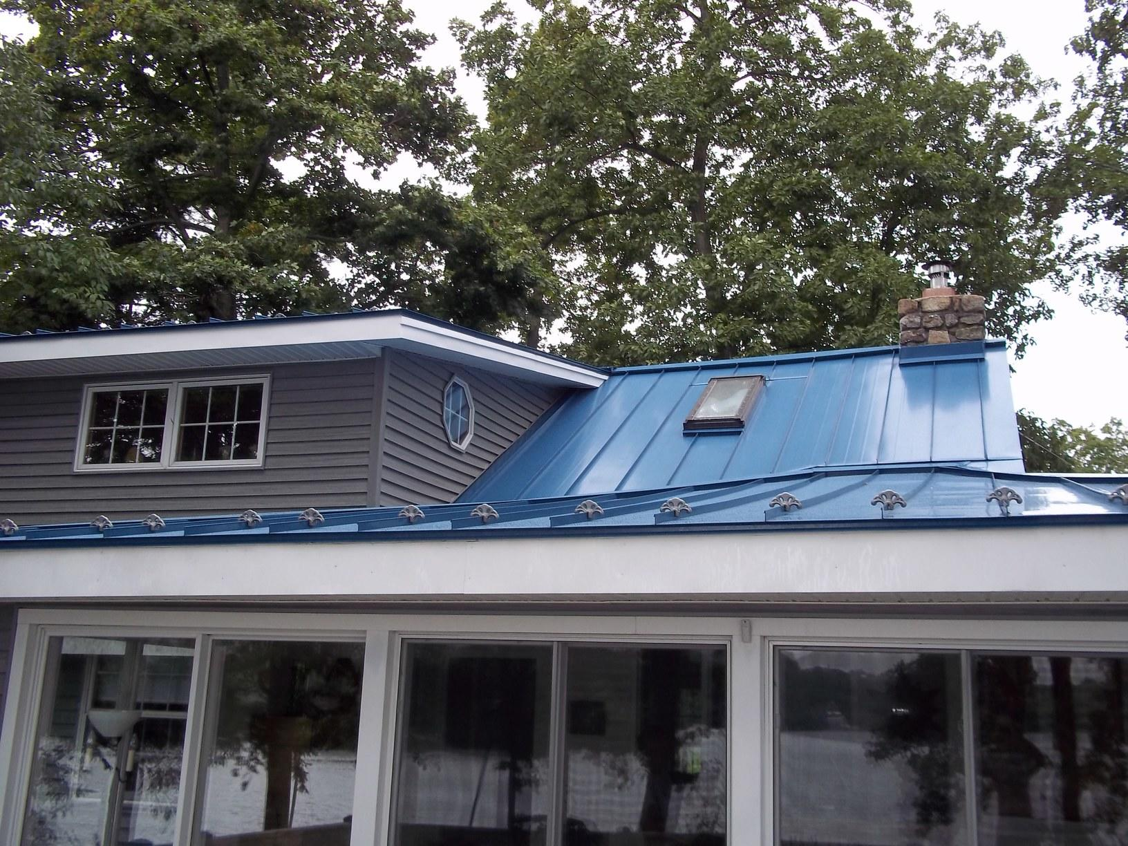 Deep Blue Sea Standing Seam Metal Roof Install in NJ
