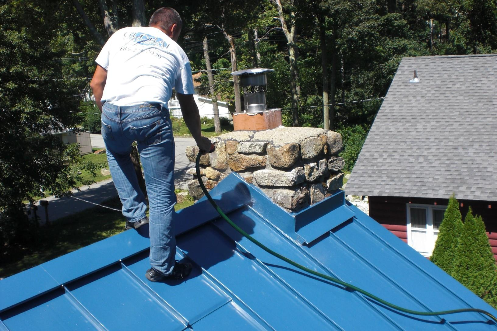 Chimney Flashing for Metal Roof Installation