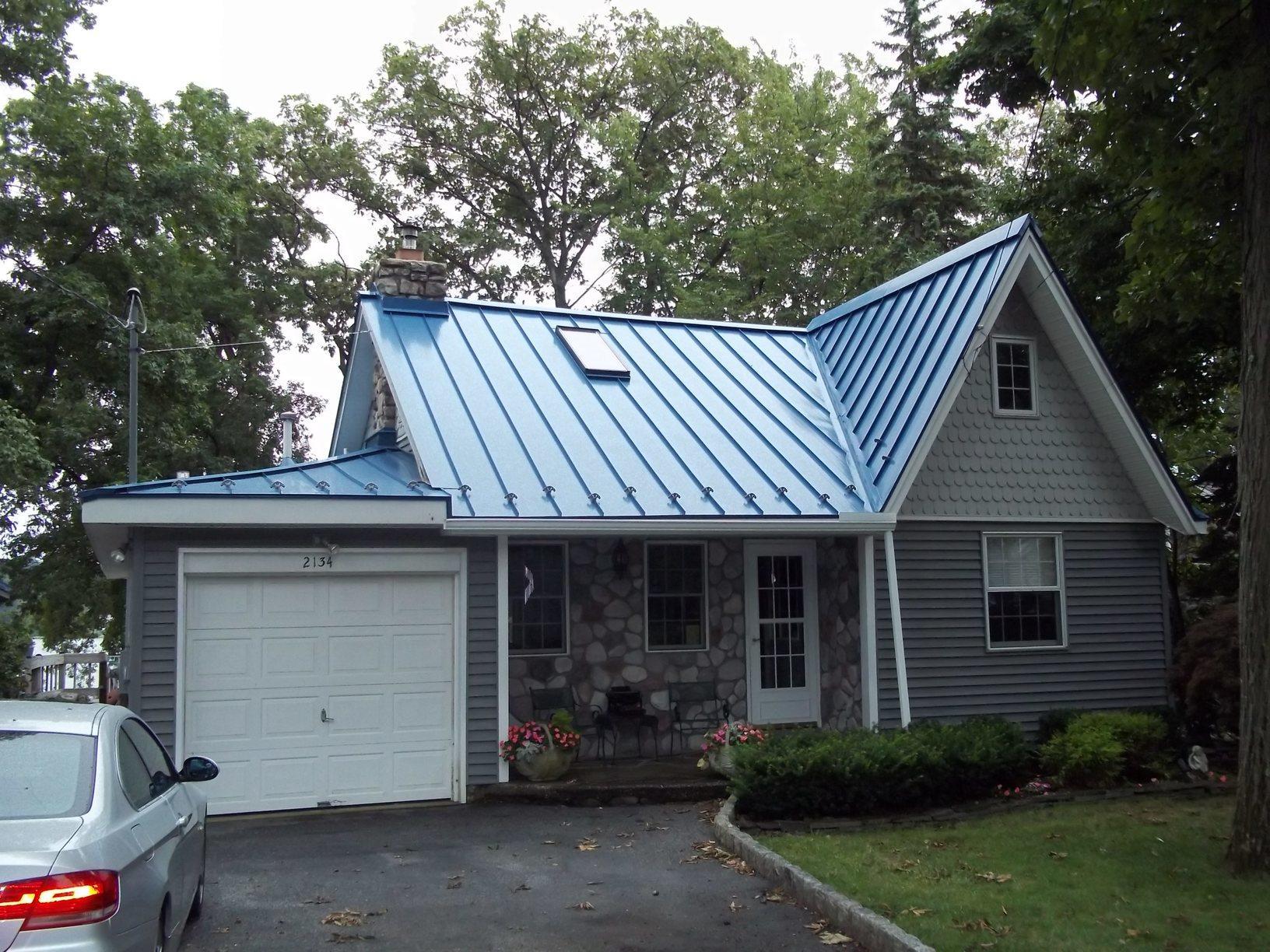 Deep Blue Sea Standing Seam Metal Roof Installation in Highland Lakes, NJ