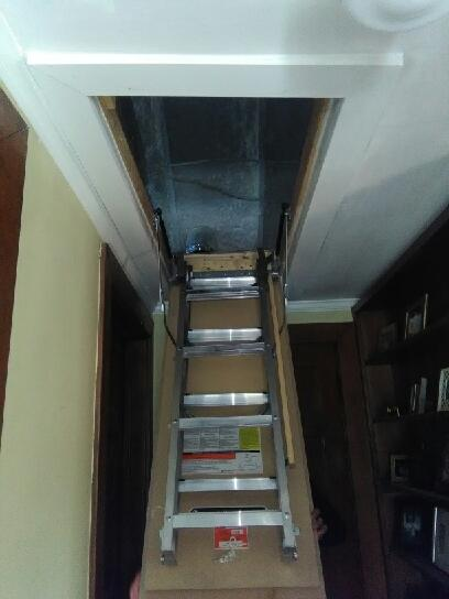 New Attic Wooden Pull Down Stairs