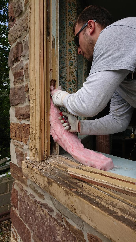 Replacing Wood Windows with New Fiberglass Windows