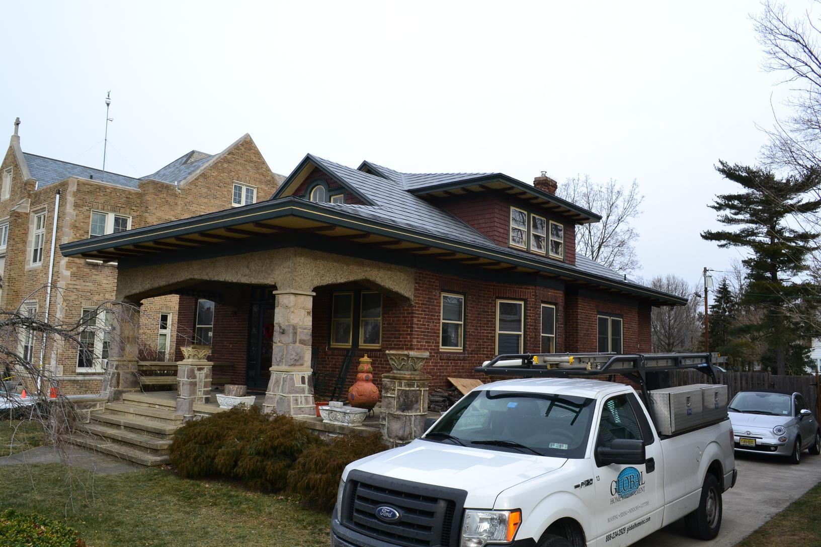 Sierra Slate Grey Tamco Metalworks Metal Slate Roof Installation in Riverton, NJ