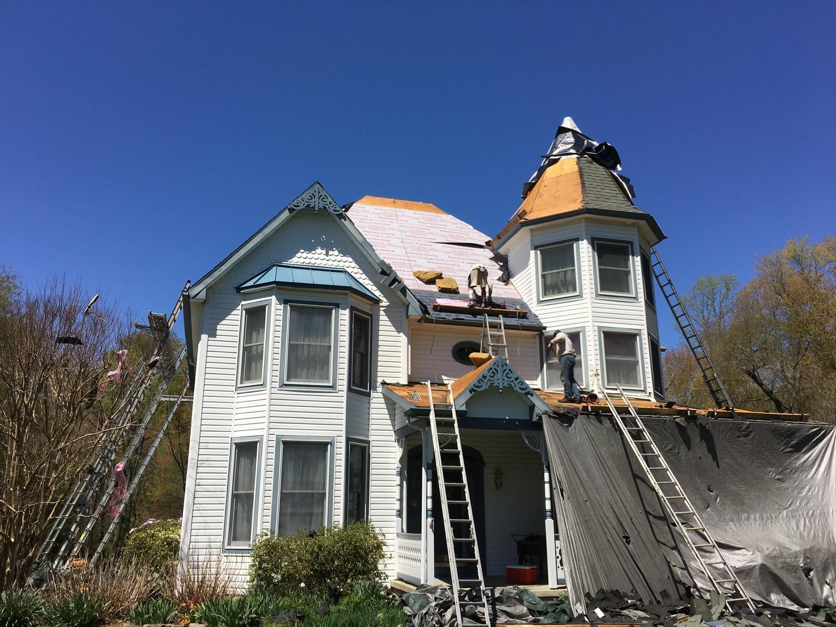 Progress Pic of Metal Roof Installation