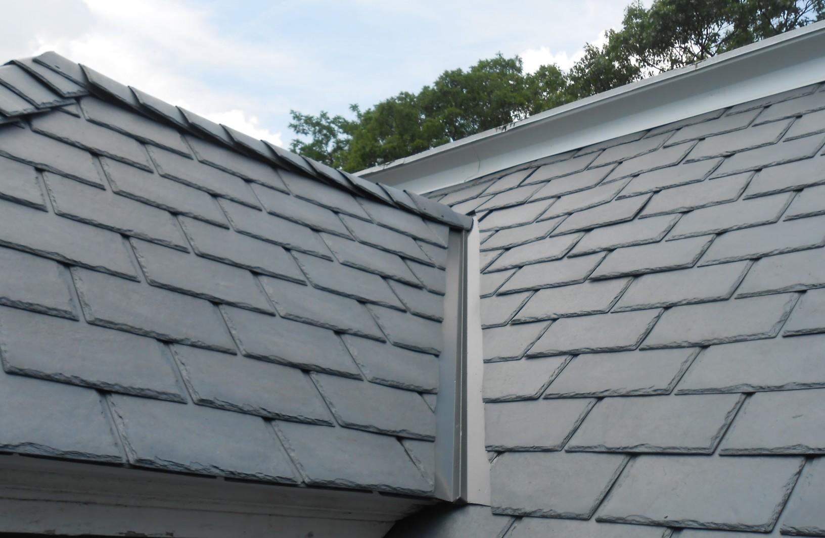 Federal Grey Composite Metal Slate Roof Installation in Trenton, NJ