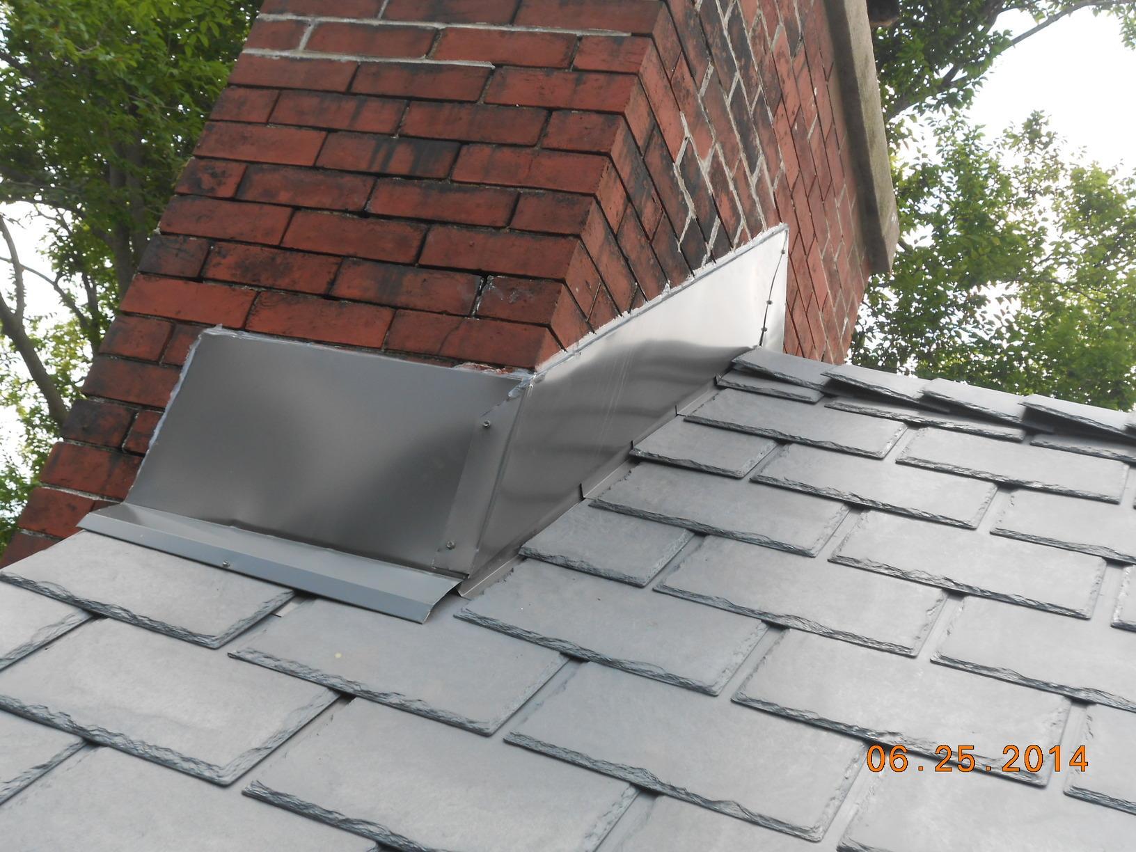 Steel Slate Roof Install