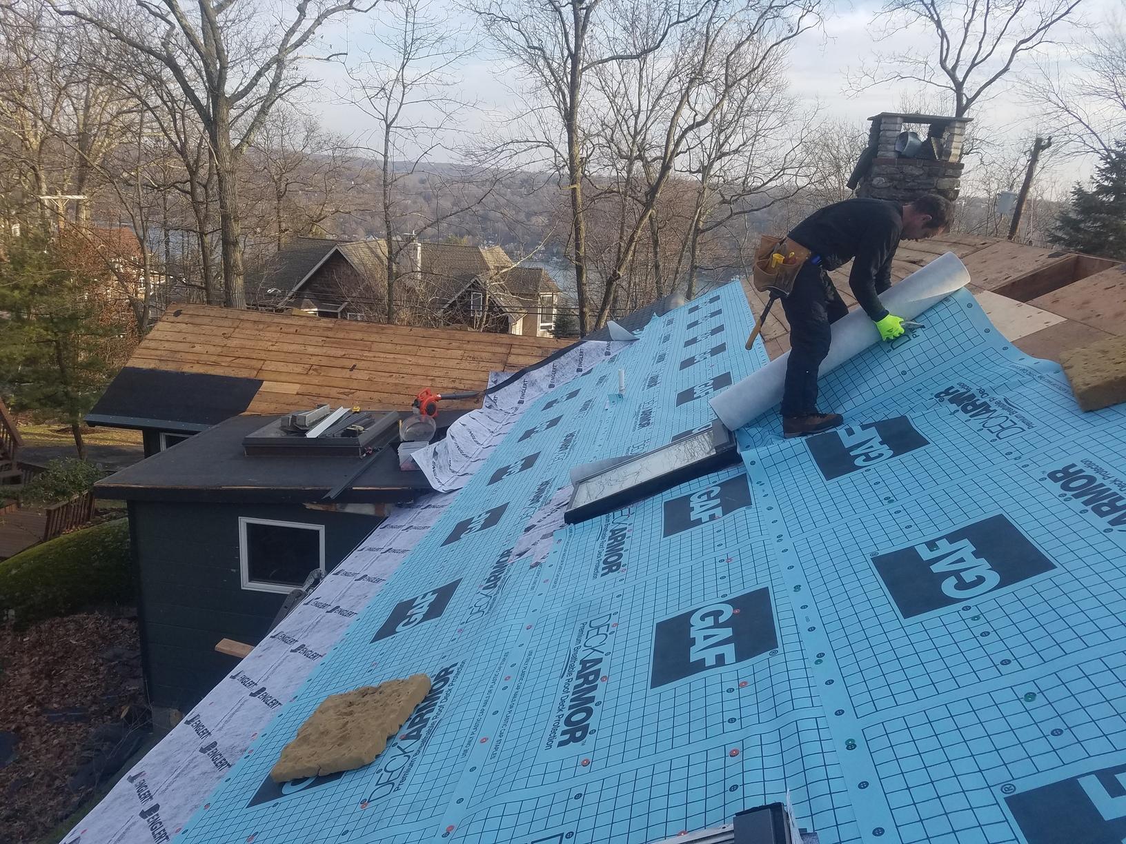 Progress of Metal Roof Installation in Sparta, NJ