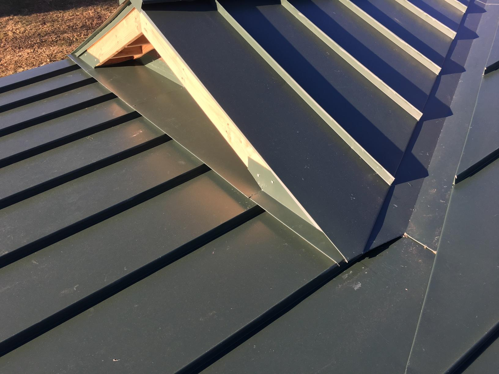Green Standing Seam Metal Roof Installation in Plymouth, PA