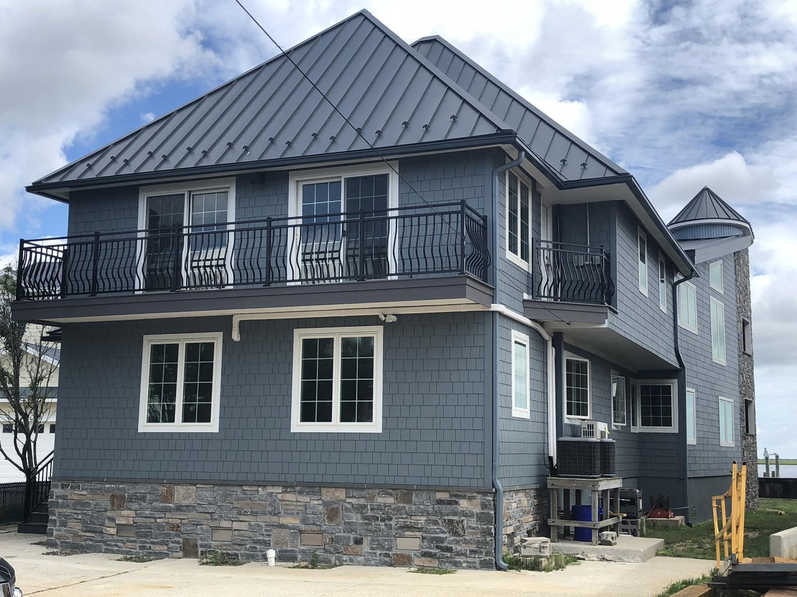 Fiber Cement and Stone Siding, Fiberglass Windows, and Standing Seam Metal Roof Installation in Brigantine, NJ
