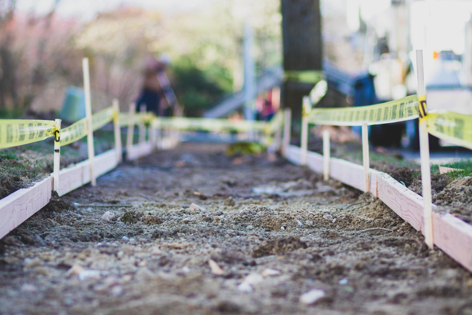 Old Sidewalk removed