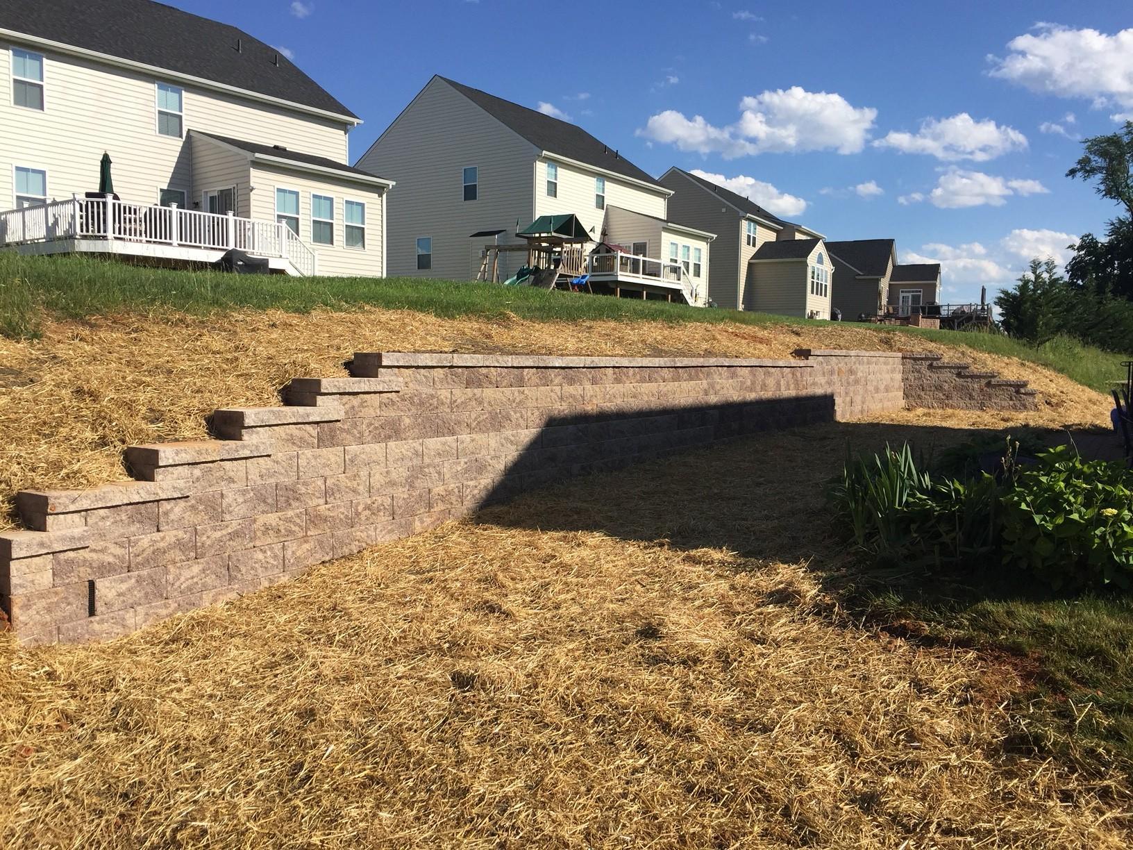 Finished Retaining Wall