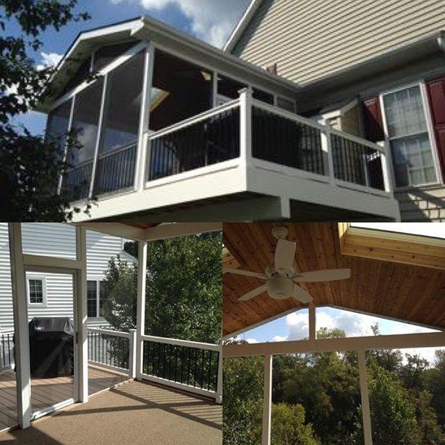 Deck Installation Collage