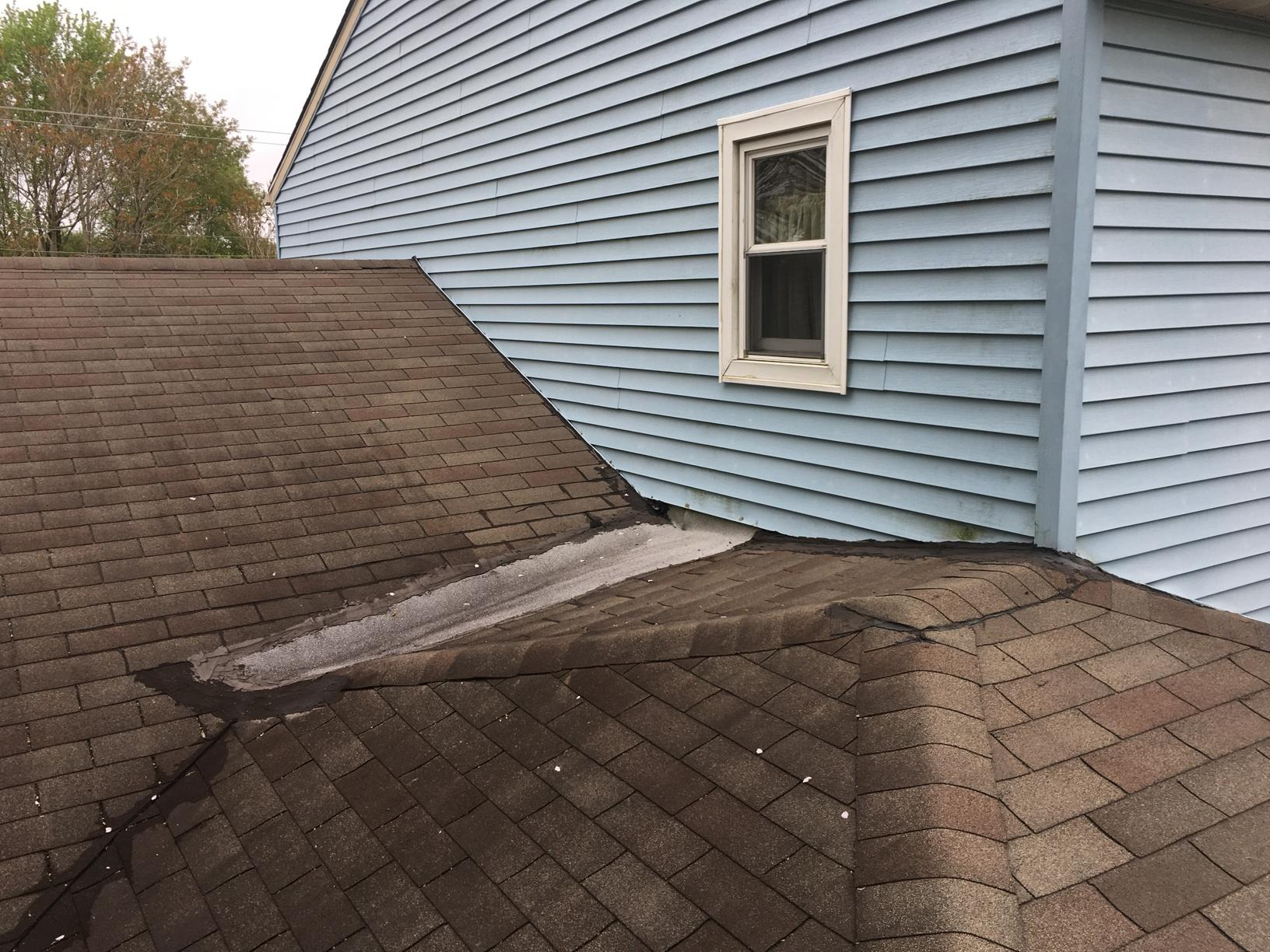 Water-Damaged Shingle Roof Replacement
