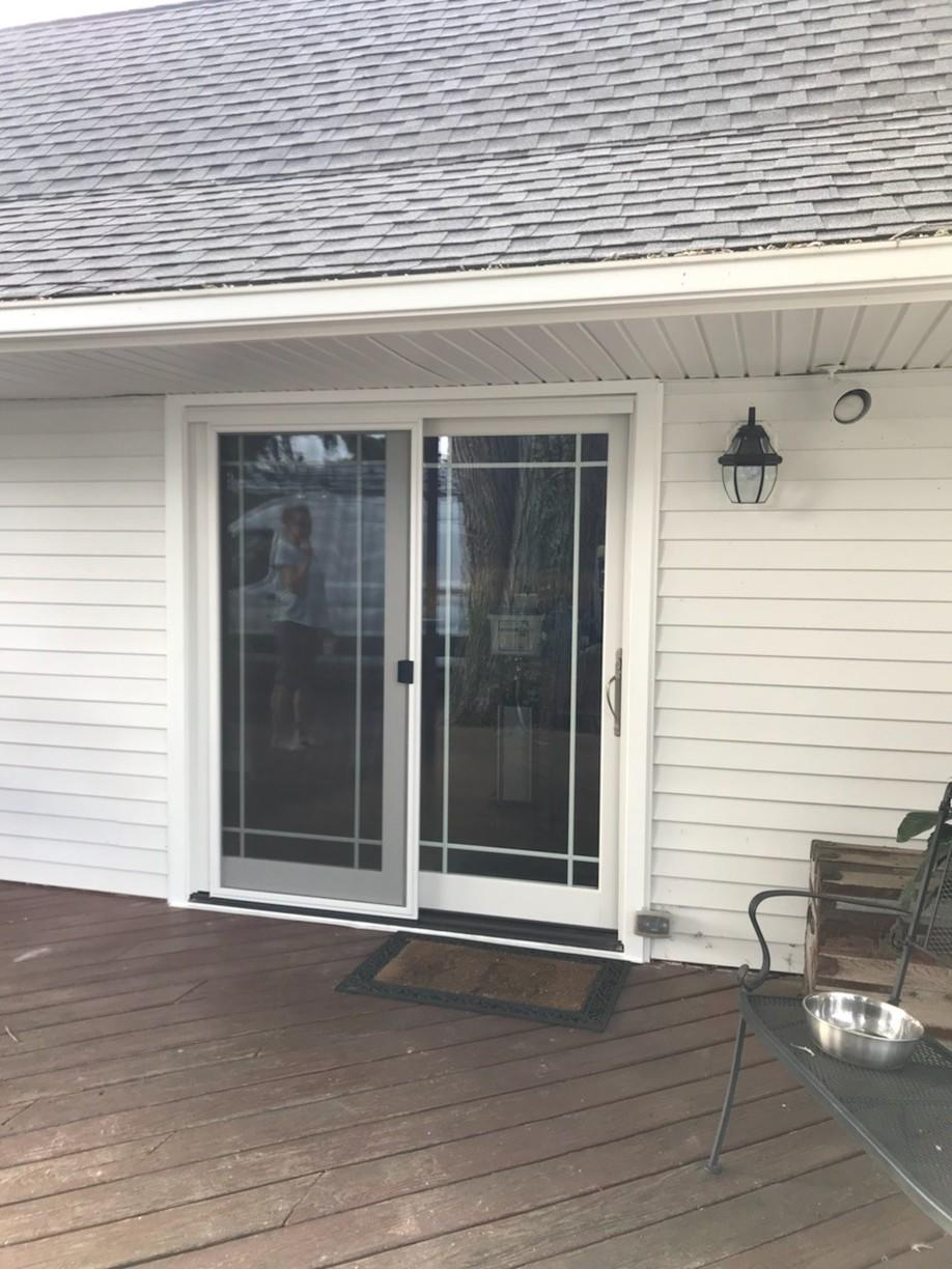 Marvin French Sliding Patio Door with Prairie Style Grilles Install in New Hope, PA