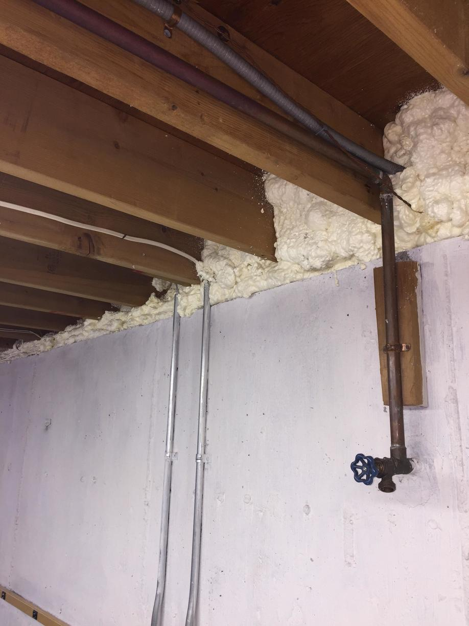 Spray Foam at Rim Joists