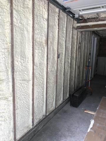 Spray Foam on Interior Garage Wall