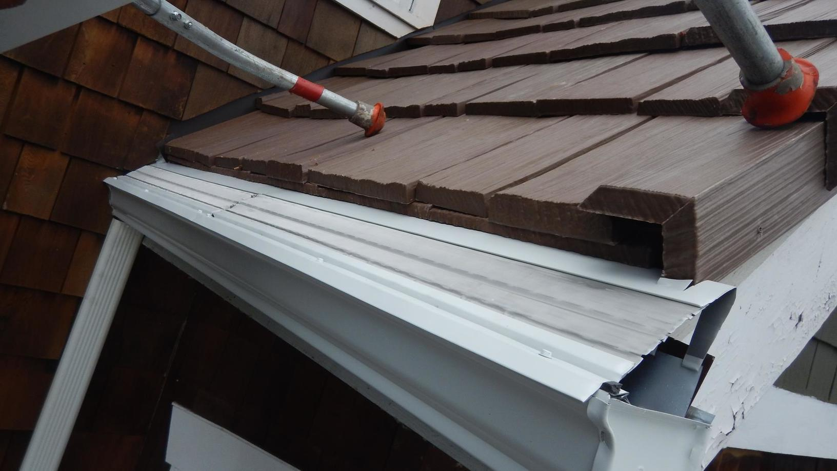 New gutters and MasterShield going up
