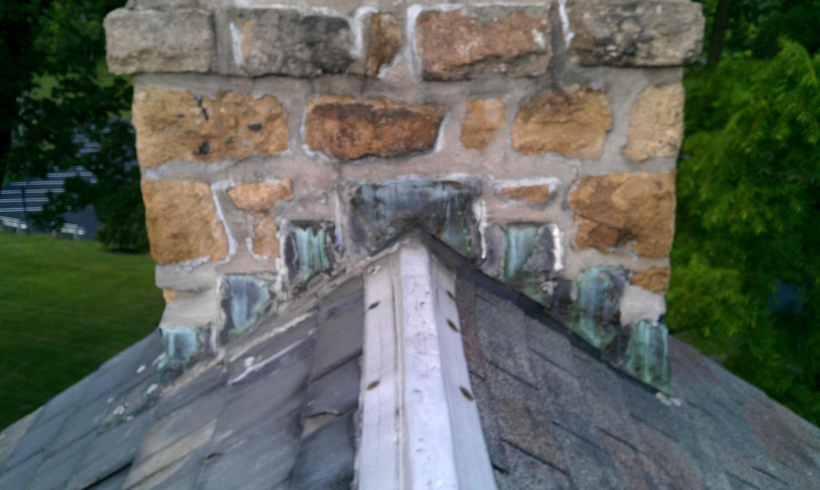 Replacing Old Slate Roof and Chimney Flashing
