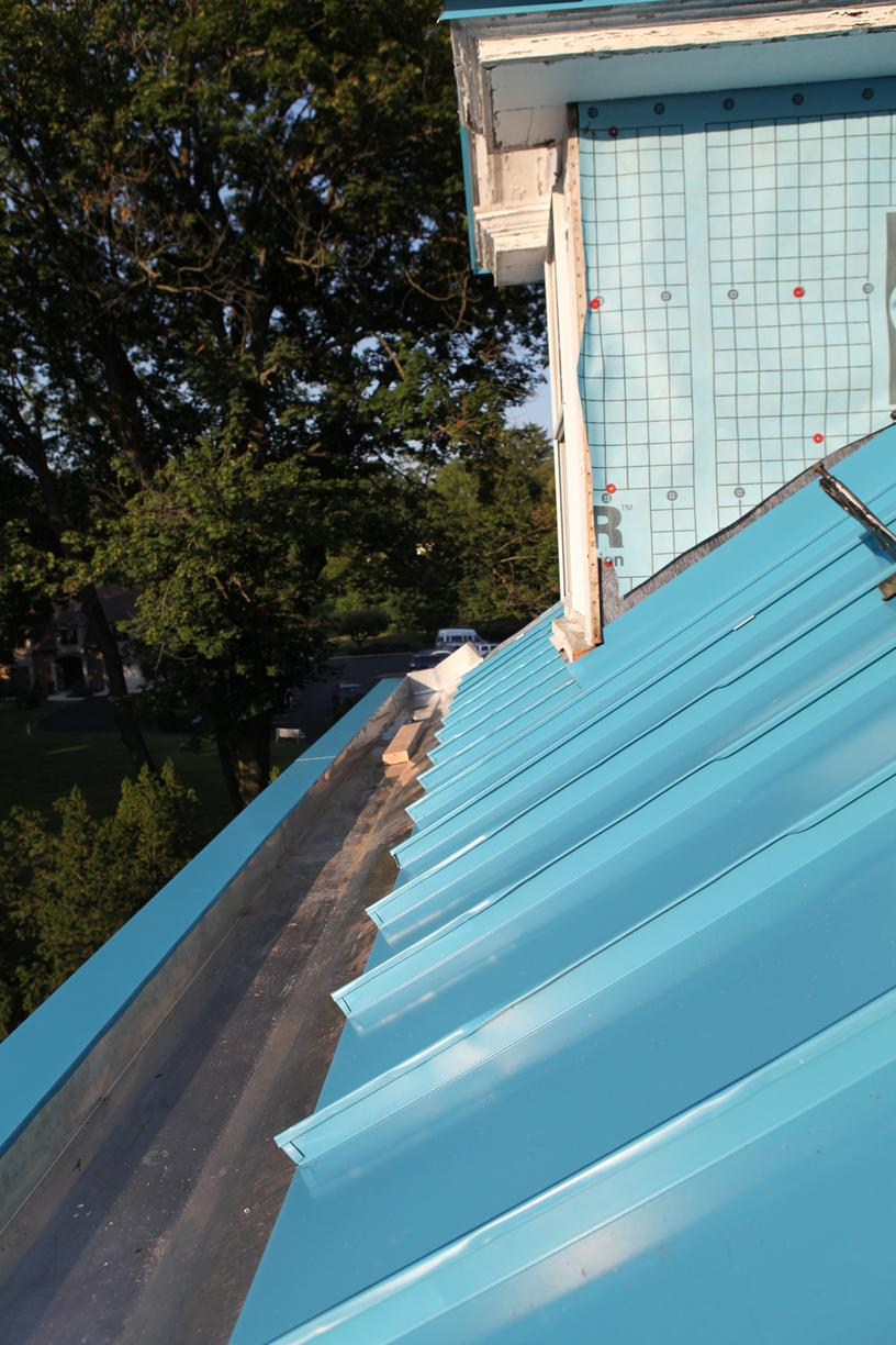 Progress Photo of Metal Roof and Gutter Install