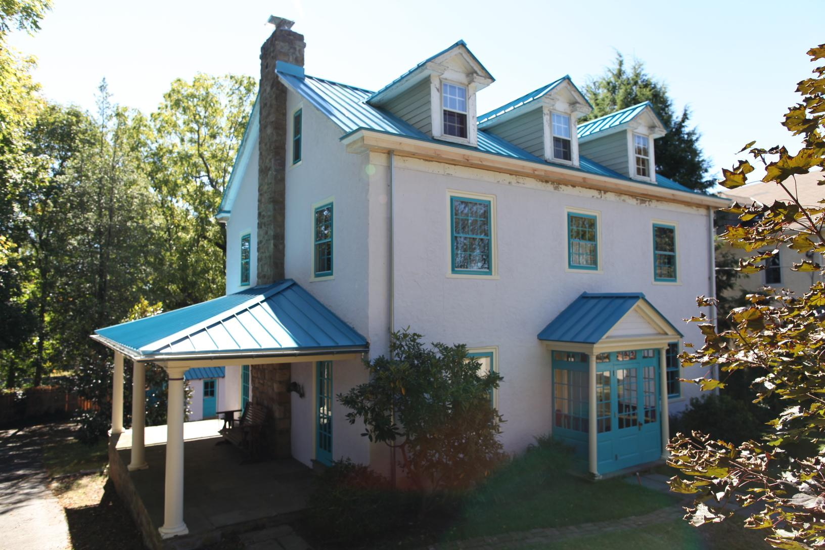 Final Photo of Pacific Blue Standing Seam Metal Roof Install in Ambler, PA