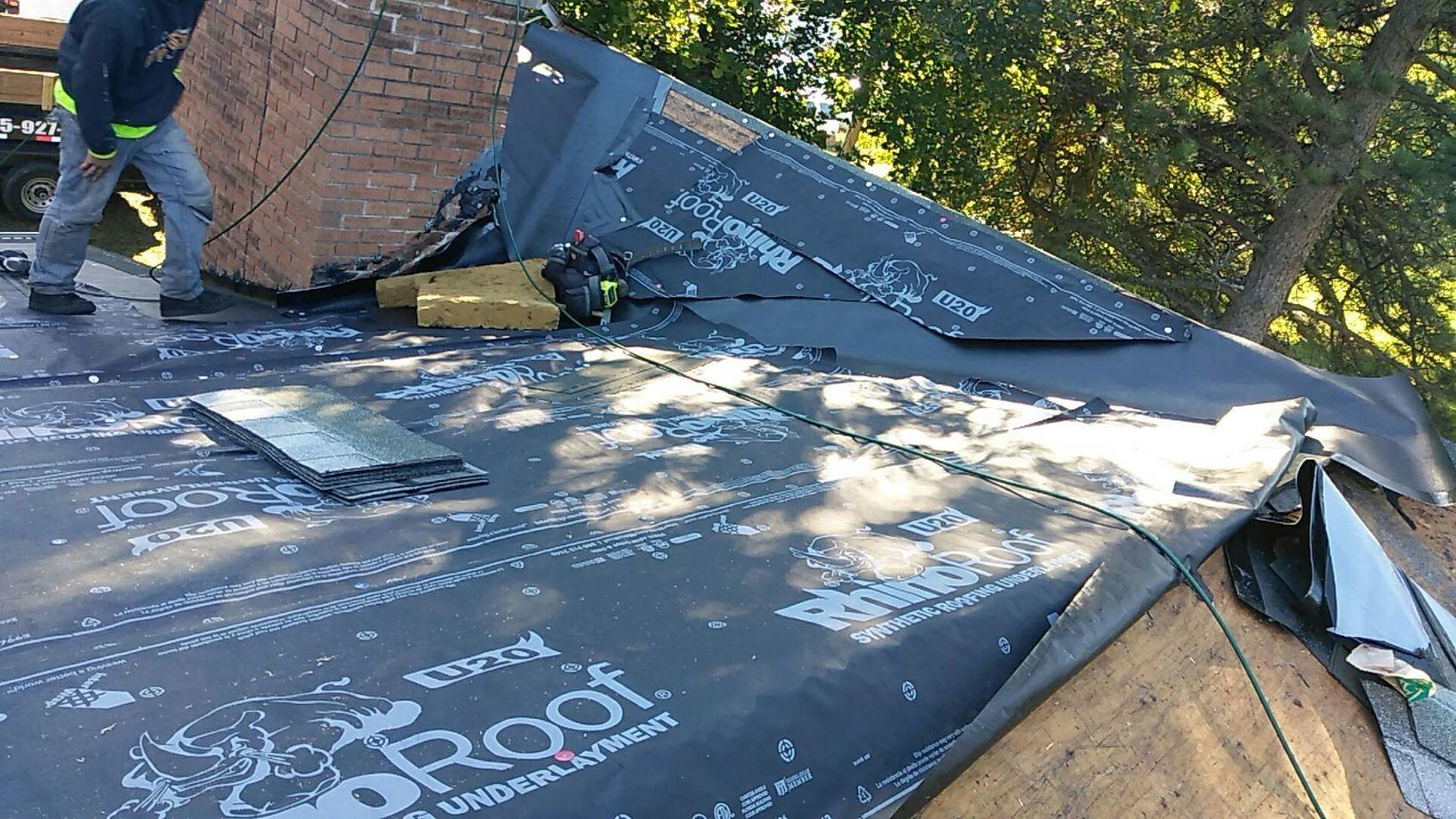 Severe Leak Roof Replacement In Beloit Wi Underlayment