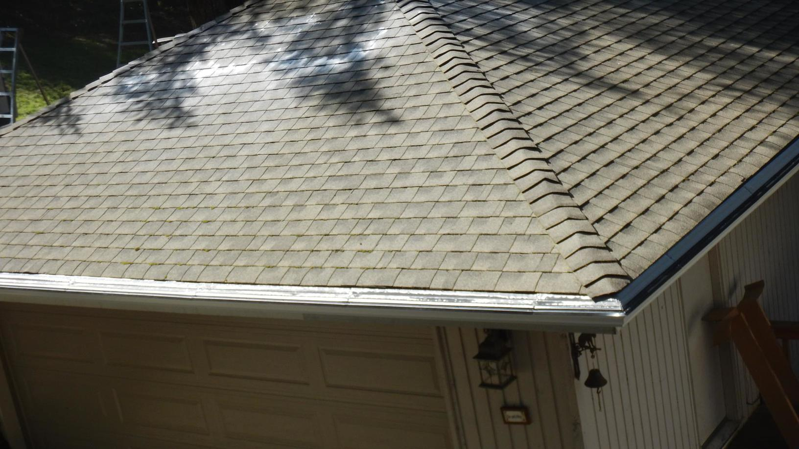Getting the roof cleaned