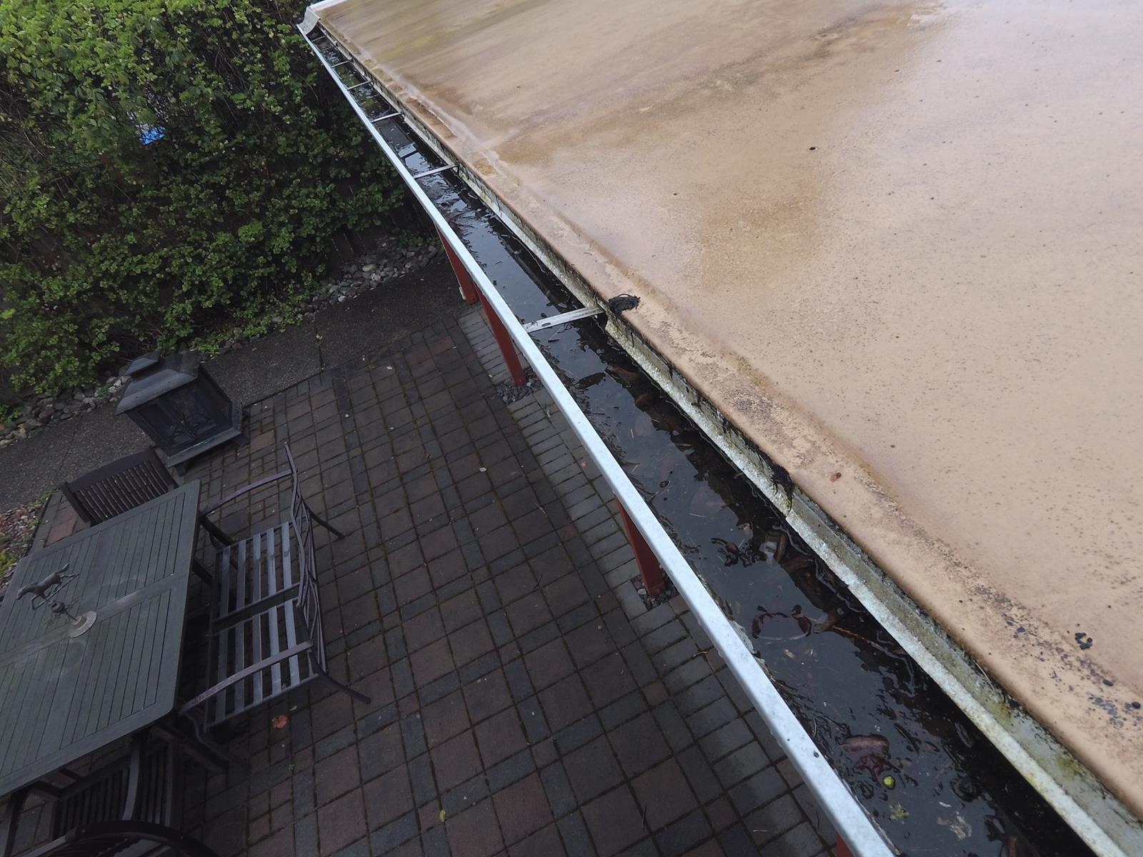 Standing Water in Gutters
