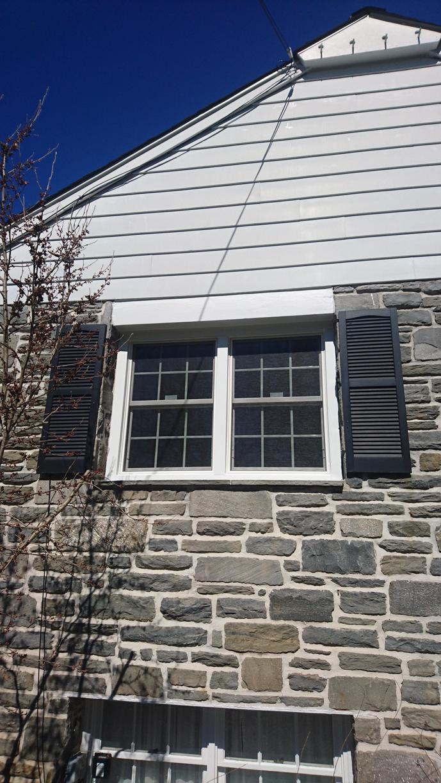 Exterior of Infinity Window Install