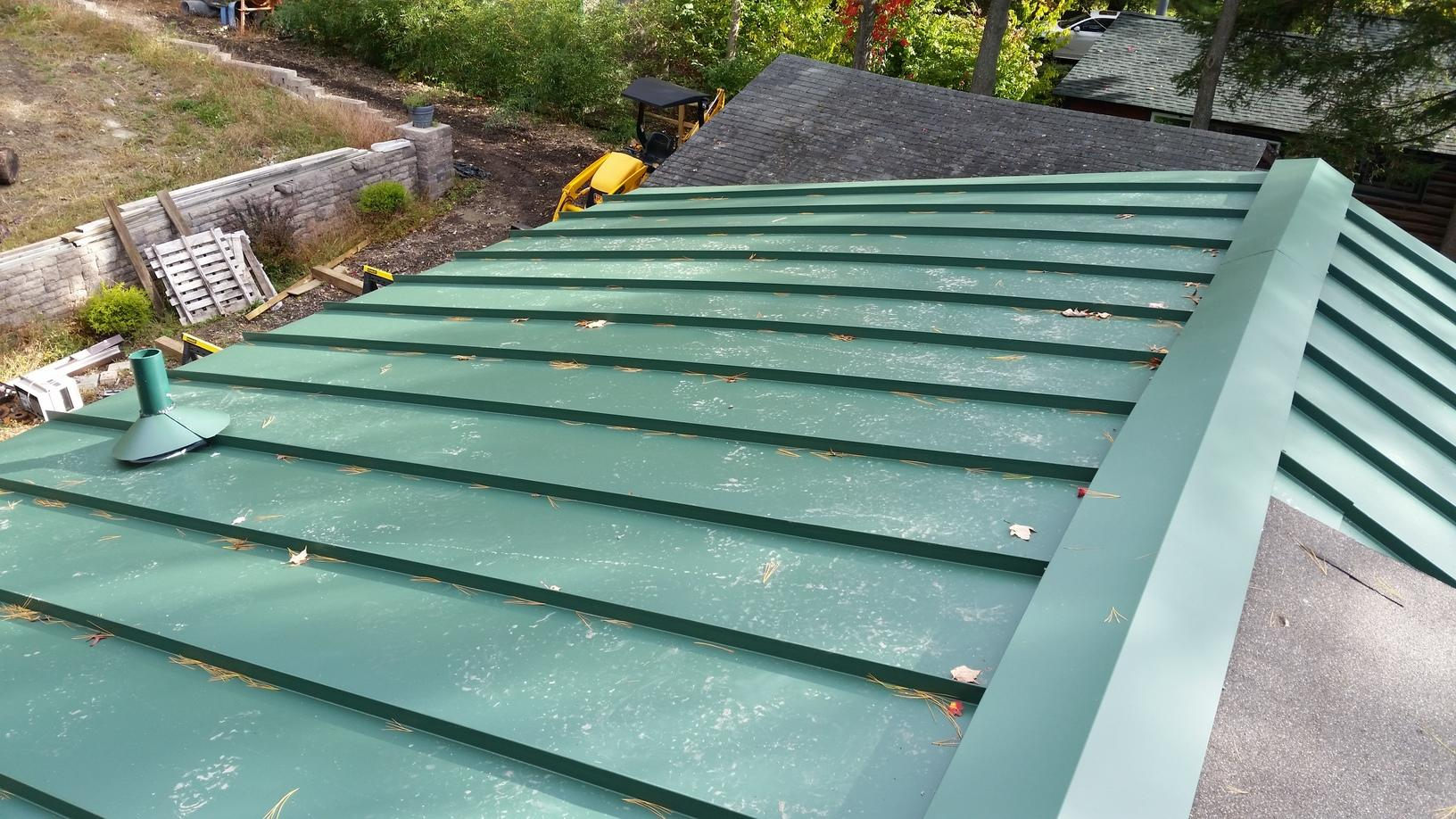 Forest Green Standing Seam Metal Roof