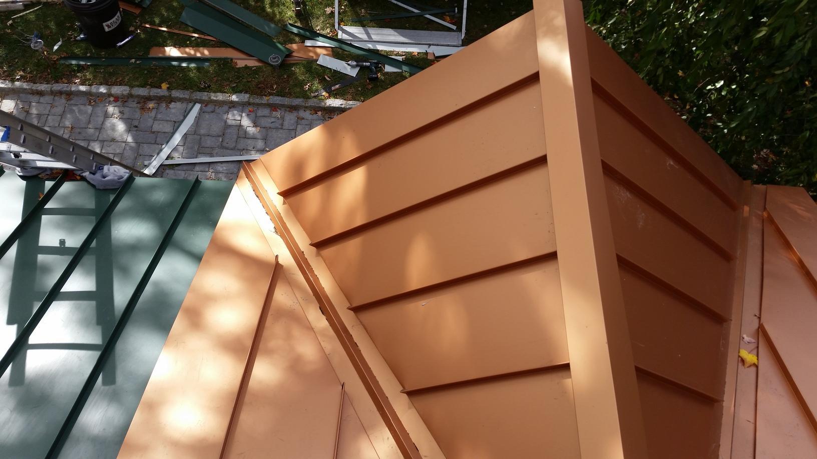 Metallic Copper Standing Seam Metal Roof