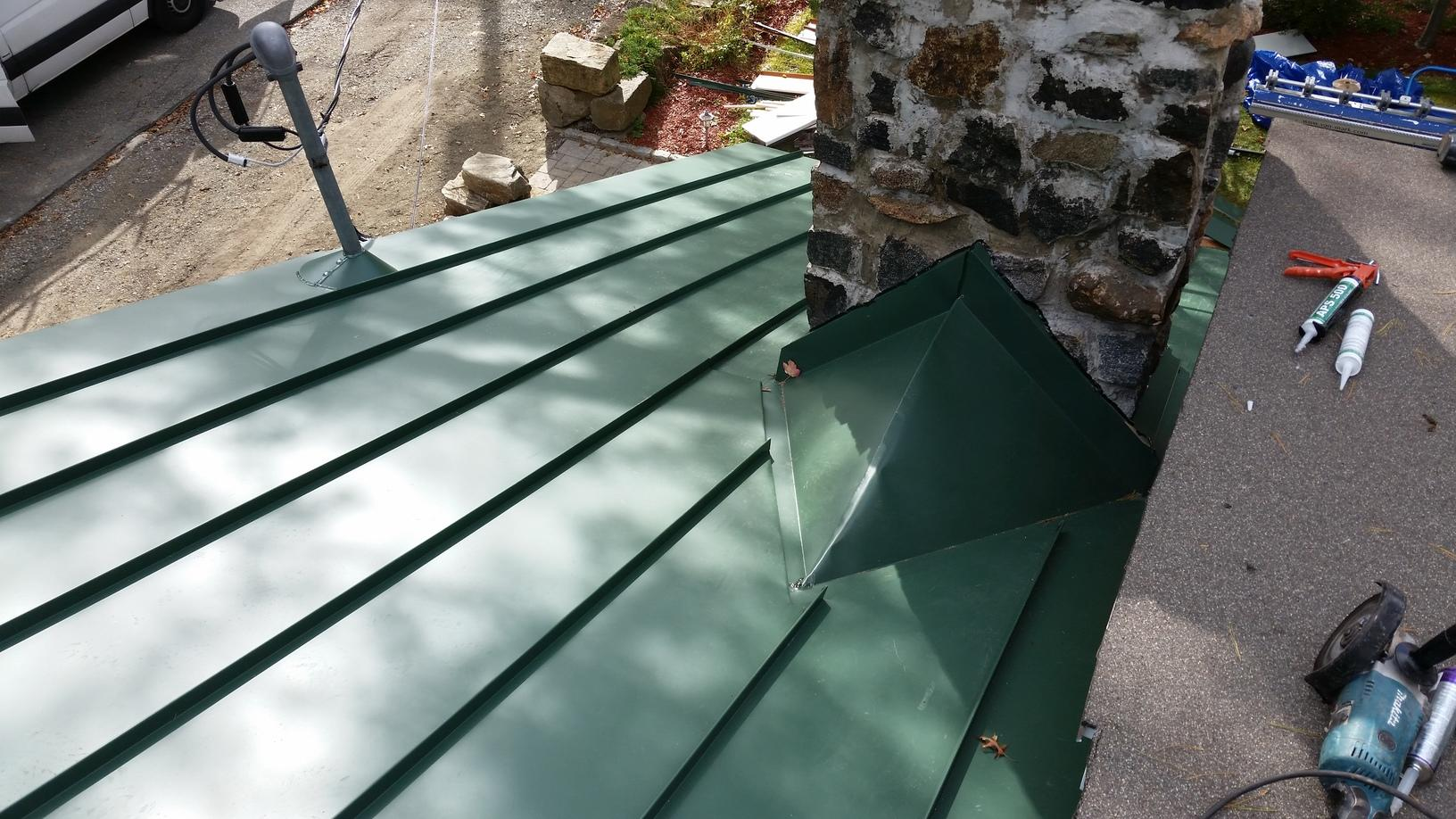 Roof Replacement Forest Green Standing Seam Metal Roof
