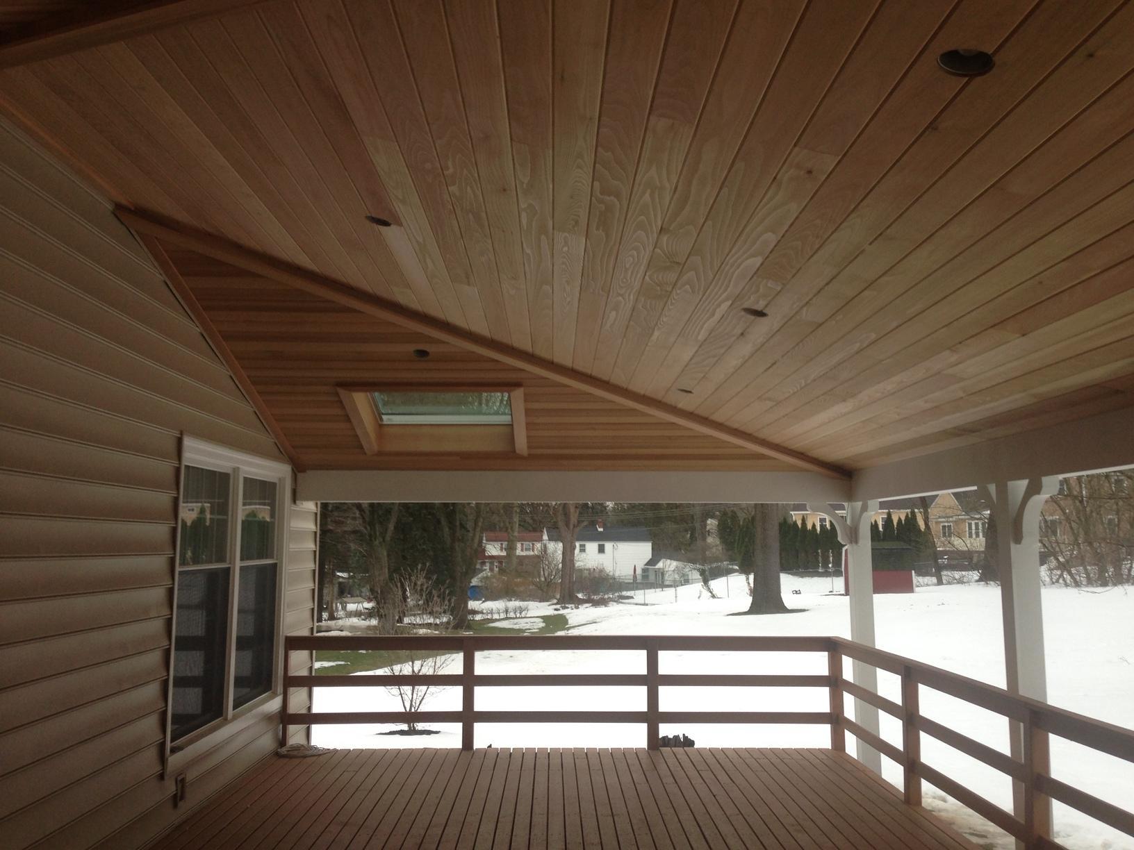 Custom Rear Porch Portico built in Lafayette Hill, PA