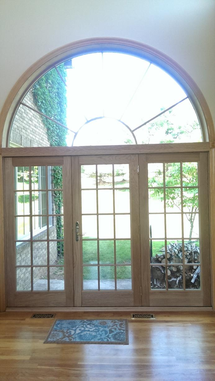 Infinity Everwood Finish on Patio Door Installation in NJ
