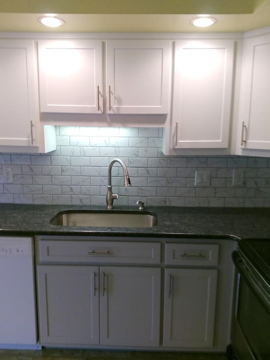 Cabinet Refacing White & Grey in Royersford, PA Home