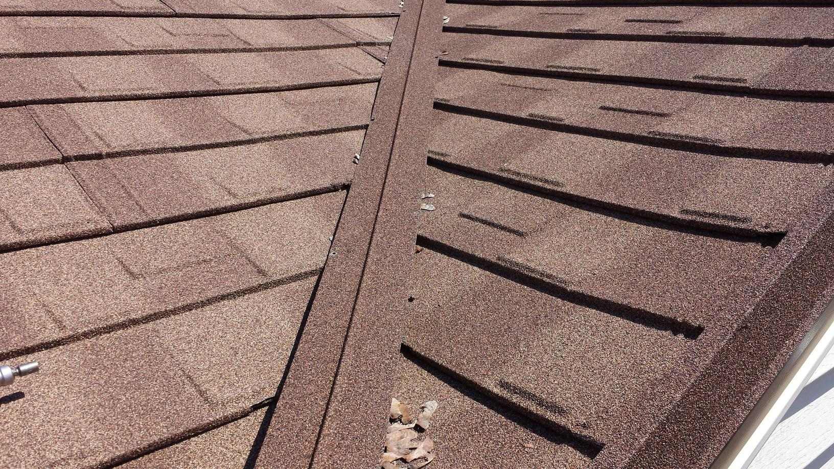 Close-Up on Stone Coated Metal Shake Roof