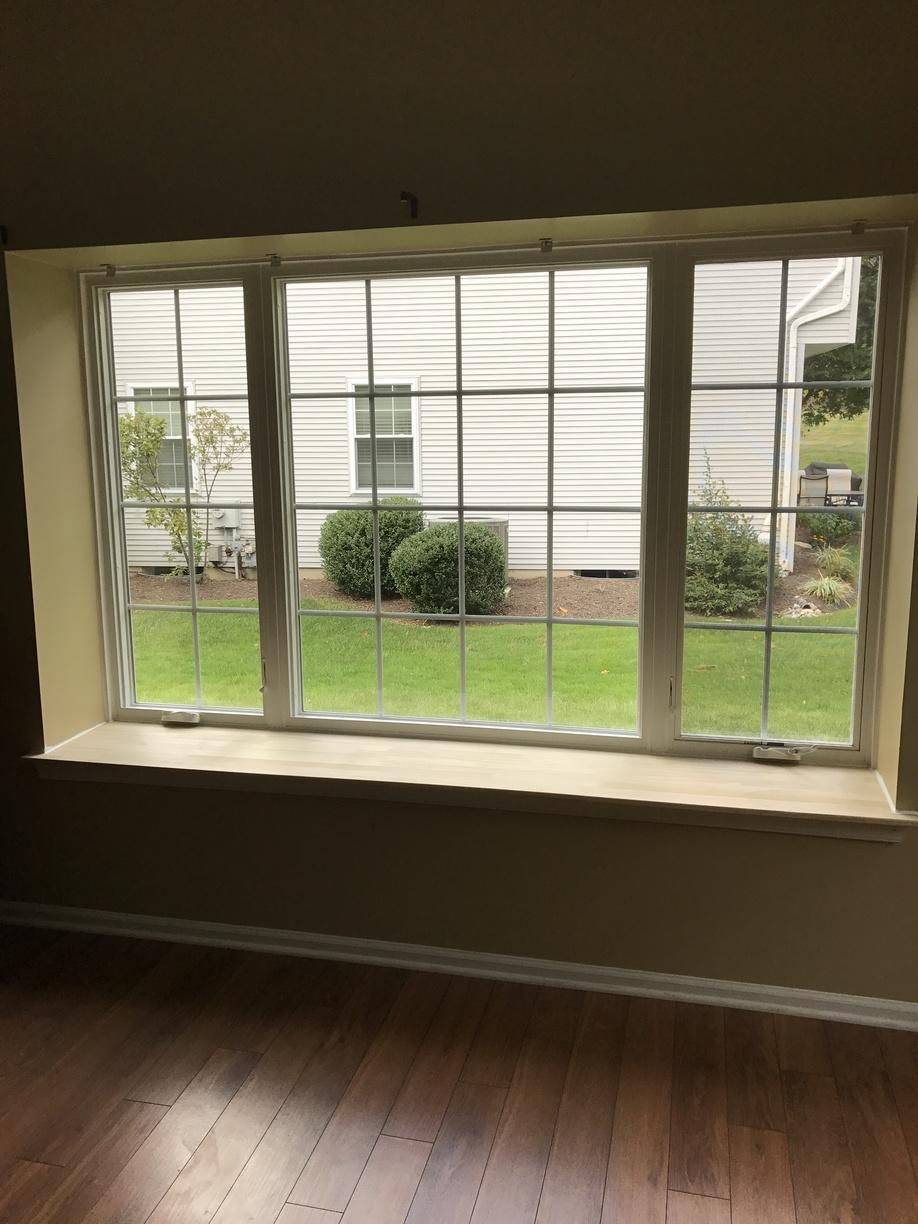 Interior View of Marvin Infinity Window Install