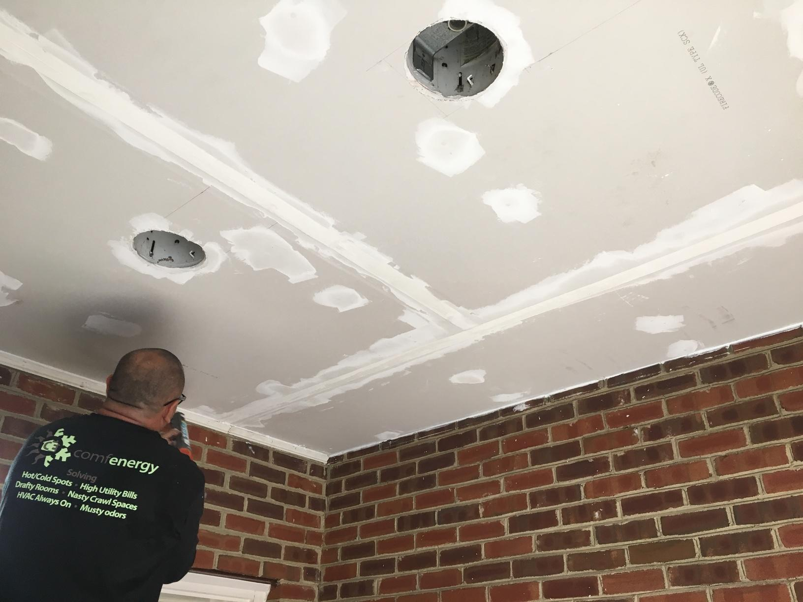 Ceiling Re-installed