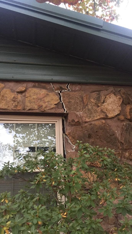 Exterior Crack in home in Gore, Ok