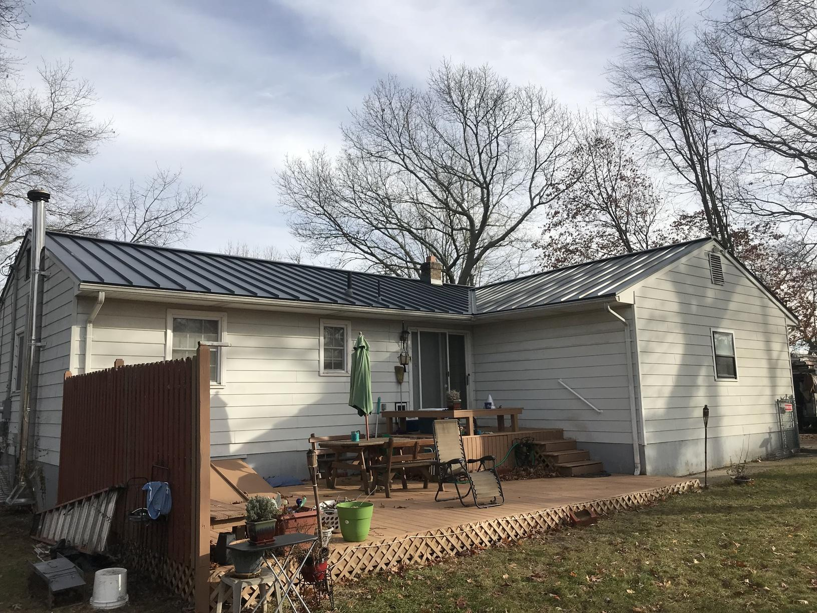 Roof Replacement - Replacing Old Shingles with Charcoal ...
