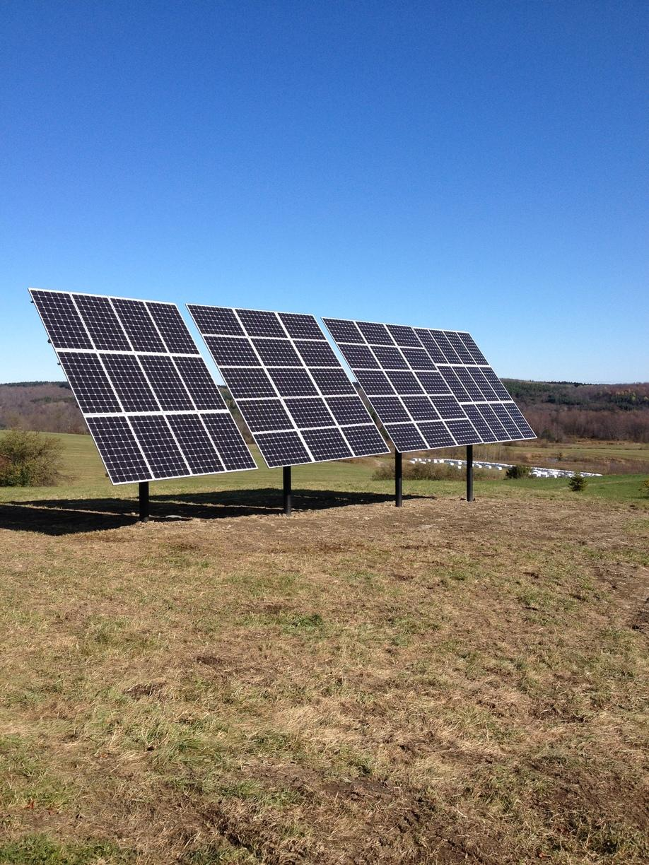 Pole-Mounted Solar Installation in Earlville, NY