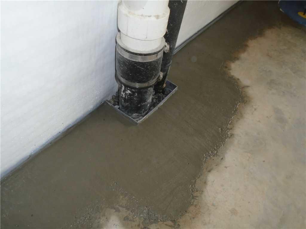 Installed WaterGuard Drain