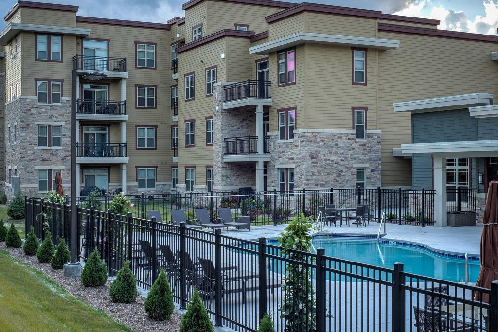 Fence Installed at a new Apartment Complex in Great Falls, VA