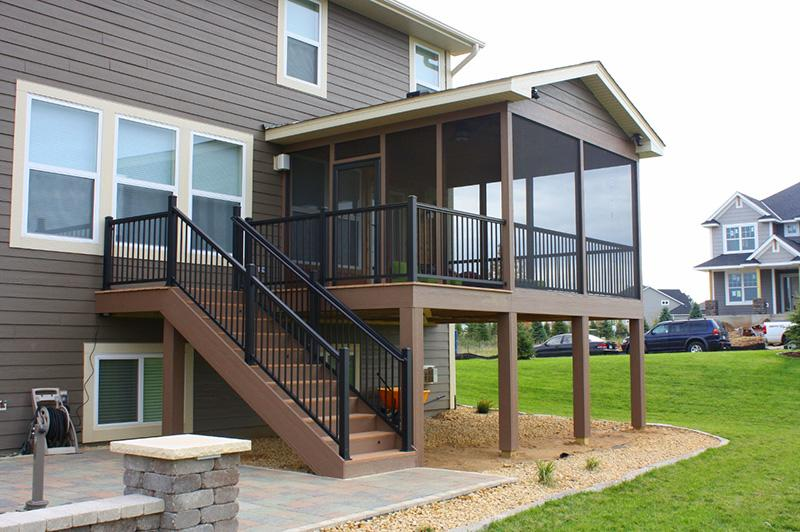 New Deck and Handrails Installed at a beautiful House in Lessburg, VA