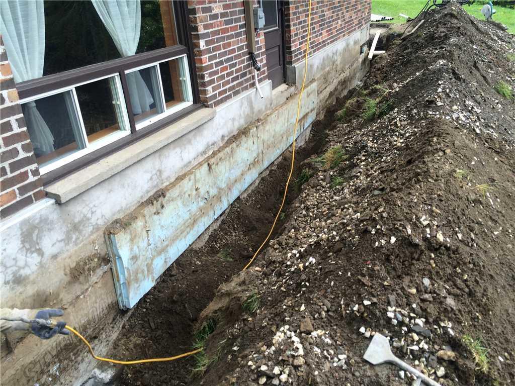 SentrySeal waterproofing membrane installed: