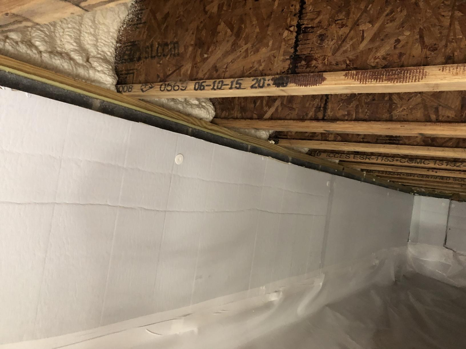 Insulated poured basement walls
